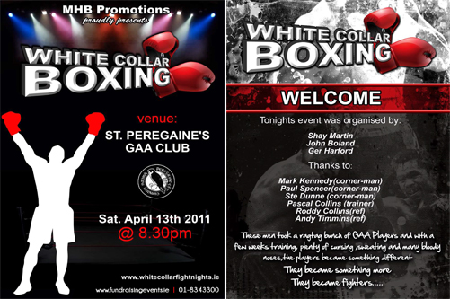 boxing cover and welcome page